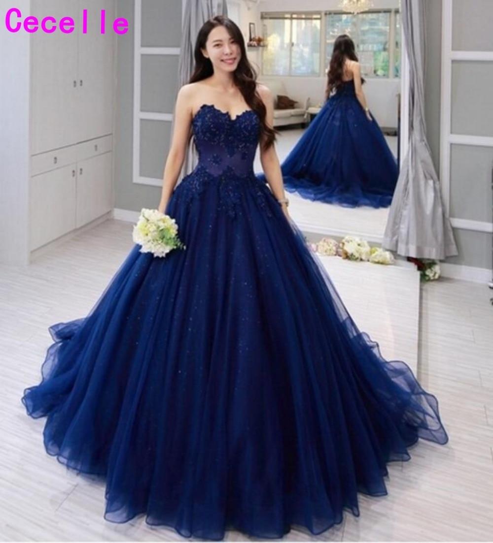 Bleu marine Sexy robe de bal robe de bal chérie perlée dentelle Appliques tulle femmes robe de soirée formelle vestido de festa personnalisé