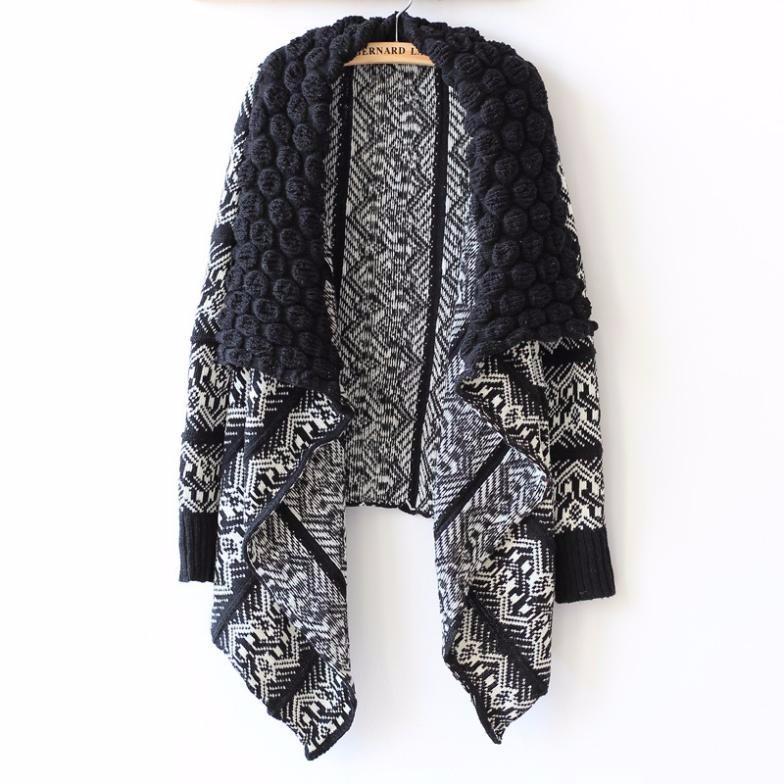 2016-Autumn-and-Winter-Cardigan-Fashion-Women-Sweater-Women-Big-Casual-Knitting-Sweater-Women