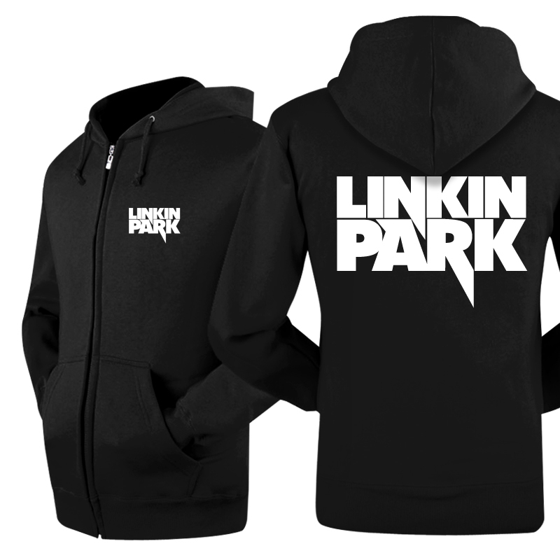 2016 New Linkin Park Rock Band Jacket Winter Zipper Skateboard Coat Mens Print Casual Thick Hoodies And Sweatshirts Men