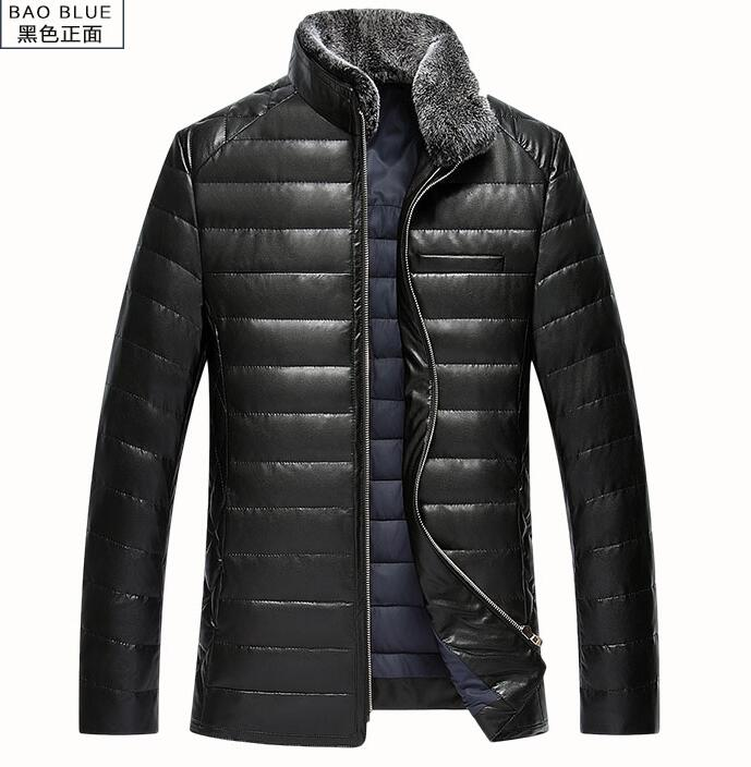 M--3XL HOT 2019 Winter Men New Leisure Cultivate One's Morality Mink collar Sheep Fur Coat