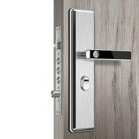 Нержавеющая сталь отпечаток пальца голова полупроводниковый замок отпечатка пальца умный дверной замок автоматическая дверь безопасност