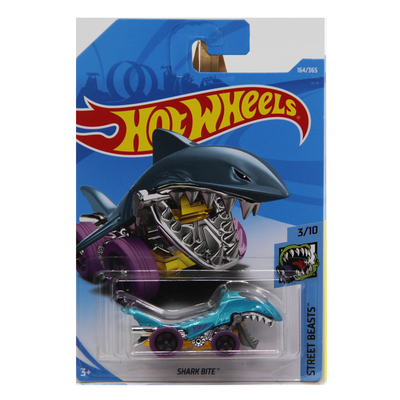Diecasts игрушечных автомобилей 2018 8 г Hot Wheels 1: 64 голубая акула укус коллекция моделей автомобилей детские игрушки автомобиля для детей горячие ... ...