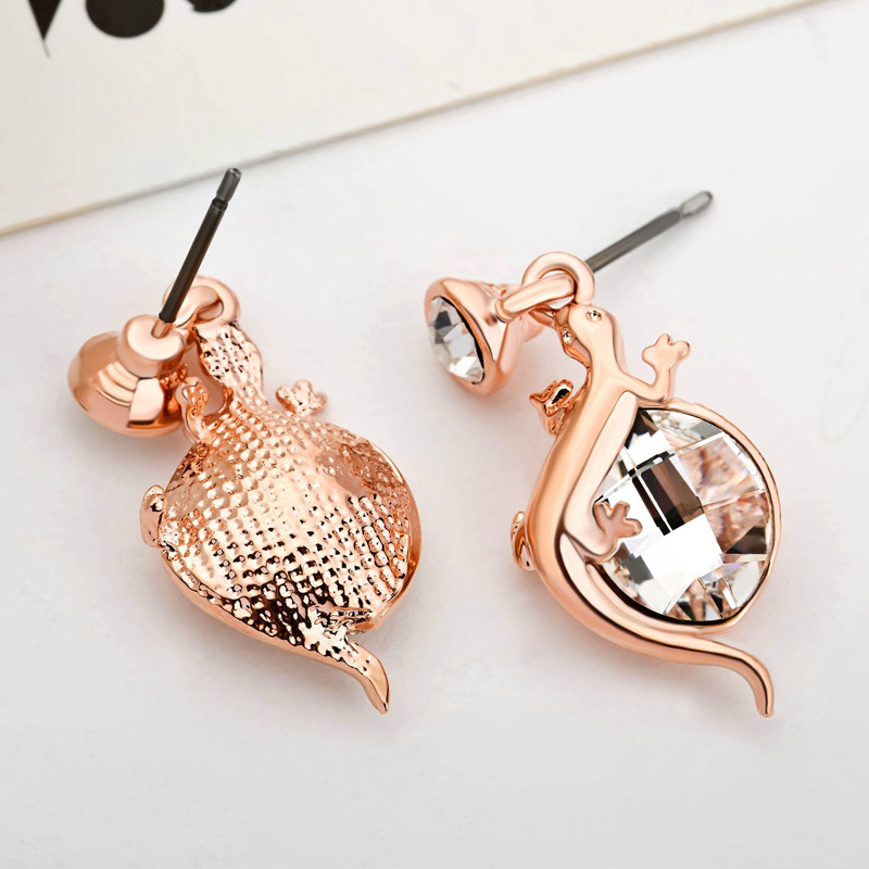 Neoglory Austria Crystal   Auden Rhinestone Dangle Earrings Cute Alloy  Lizard Stylish Jewelry For Trendy Girl Party Gift-in Drop Earrings from  Jewelry ... 49ff2f1115a8