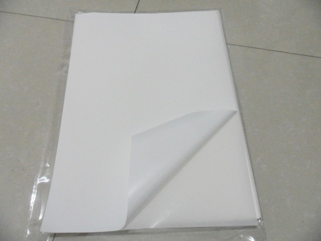 free shipping 40 sheets A4 210x297mm blank white vinyl label paper  waterproof sticker sheets for inkjet printer