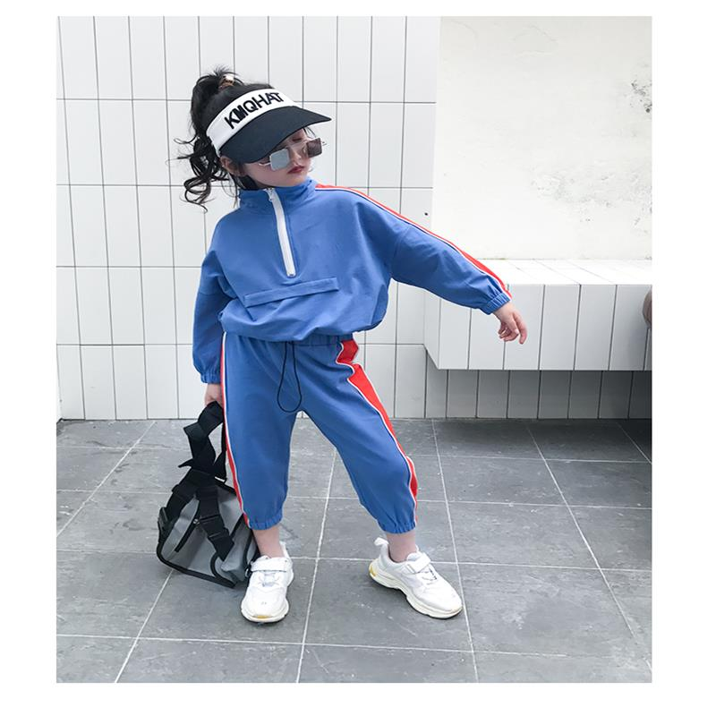 Baby Girl Suit New Korean version Childrens Loose Collar Fashion Sanitary Wardrobe Coloured Nine-cent Pants Two-piece SuitBaby Girl Suit New Korean version Childrens Loose Collar Fashion Sanitary Wardrobe Coloured Nine-cent Pants Two-piece Suit