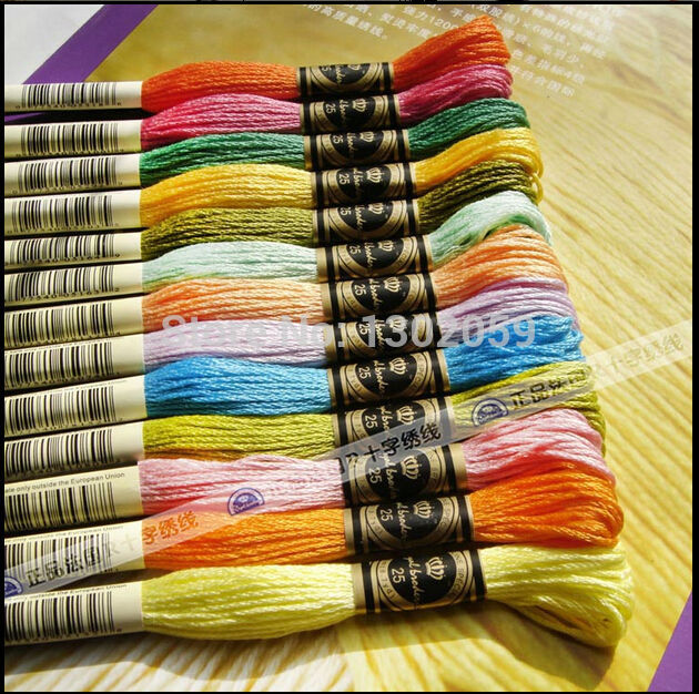 240 Pieces Royal Embroidery Thread Floss 50 x size 26 and 50 x size 28 needle
