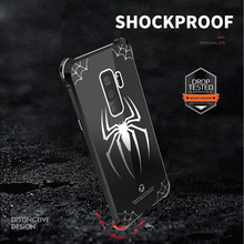 for samsung galaxy s9 s9 plus case cover spiderman case metal  Aluminum Bumper Frame For Samsung Galaxy S9 S9+ PC back cover