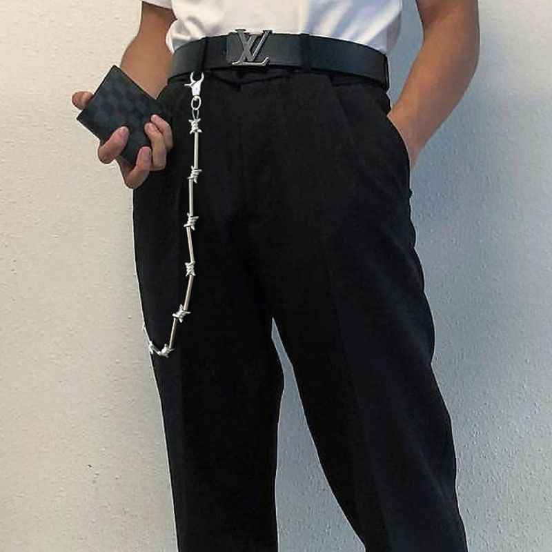Cool Punk Rock Wallet Belt Chain Metal Trousers Chain Jean Pants Hip Hop Jewelry