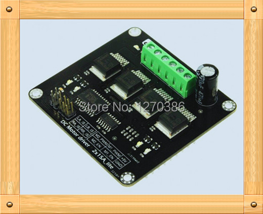 ФОТО Free Shipping!!!  Dual 15A high power motor driver / short overvoltage overtemperature module