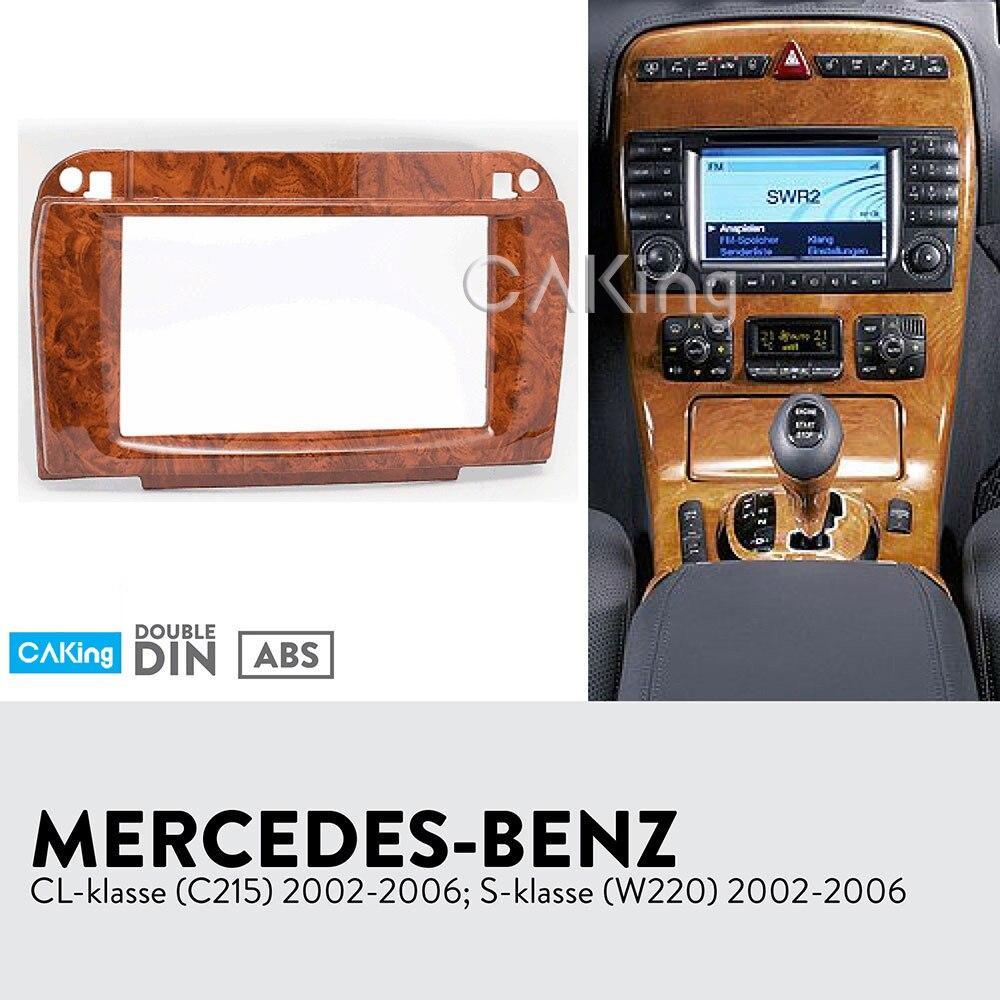 Us 41 92 2din Car Fascia Radio Panel For Mercedes Benz Cl Klasse C215 S Klasse W220 2002 2006 Dash Fitting Kit Facia Plate Bezel In Fascias