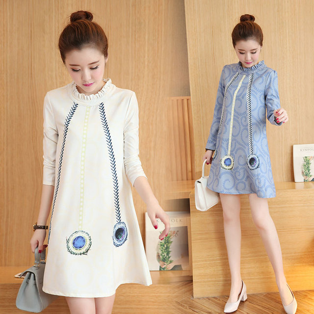 1cd9b915c5c 2016 Fashion Maternity Clothes For Women Autumn And Spring Pregnant Dresses  For Ladies Full Women Maternity