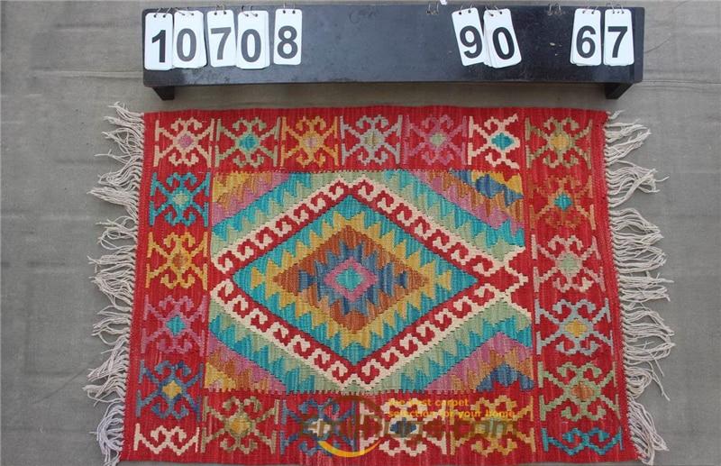 Hand Woven Kilim Carpet Needlepoint For Carpets Living Room Rectangle Carpet Natural Sheep Wool - 6