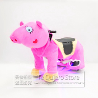 Factory Price RC Toy Cars Plush Walking Pig Animal Rides With Music and Lights