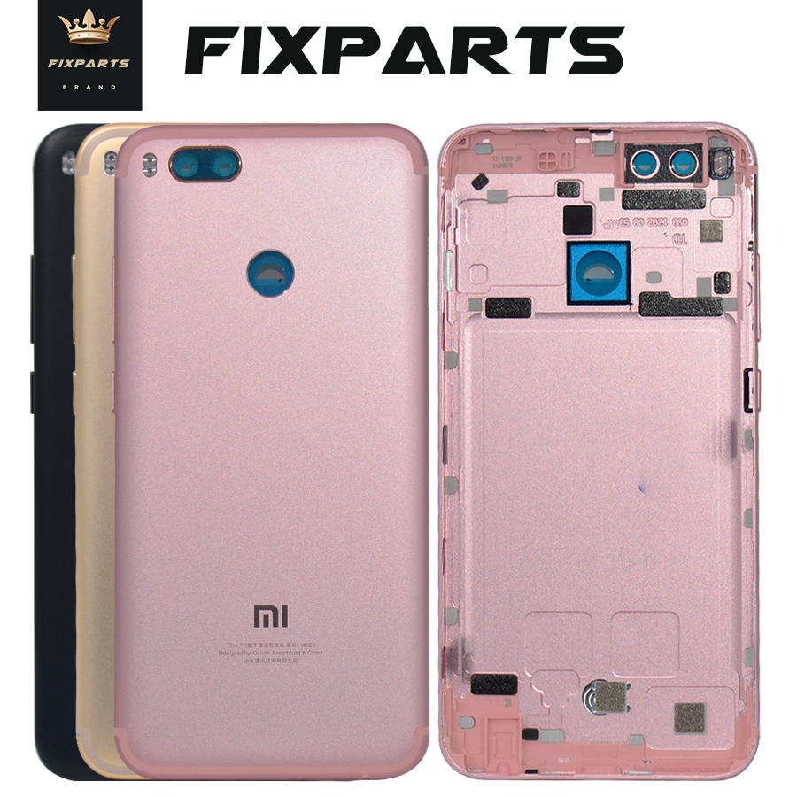 Xiaomi Mi A1 Battery Cover MiA1 Rear Door Back Housing Case For Xiaomi Mi 5X A1 Battery Cover With Power Volume Button Replace