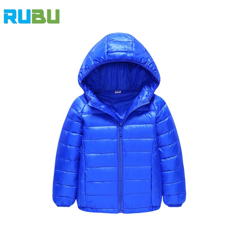 Toddler Girls Hoodies Thick Clothing Winter Warm Baby Boys Duck Down Clothes Coat Kids Sports Casual Children Clothing JSB452
