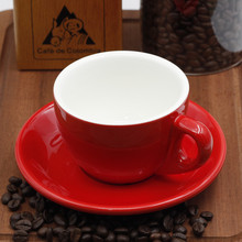 MHV  European style glazed ceramic 250ML coffee cup kitchen office equipment