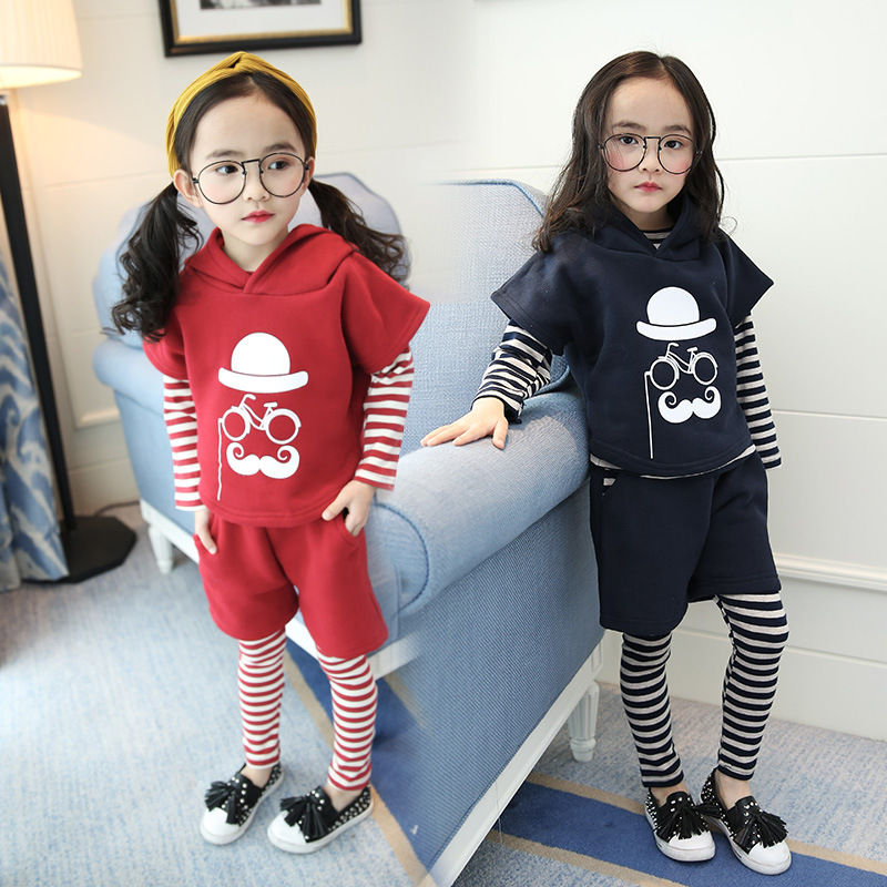 Baby Girl Clothes Autumn Clothes Set Cotton Kids Infant Clothing Long Sleeve T Shirt+vest+pants Outfits 3Pcs Baby Tracksuit Set