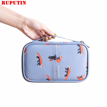 RUPUTIN New PU Passport Cover Airline Storage Package Document Holder Waterproof Travel Zipper Personality Card Pack Ms Wallet