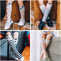 2017 Cute Animal Socks Kids Knee High Socks 3D Cartoon Boys Girls School Long Socks Baby Cotton Fox Stripes Dots Leg Warmer 1-9Y