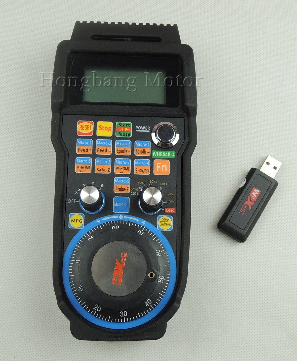 Machine à graver volant à télécommande mach3 MPG USB roue à main sans fil pour CNC 3 axes 4 axes contrôleur fraiseuse