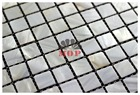 White color square Shell Mosaic Tiles, Natural Mother of Pearl Tiles, kitchen backsplash, bathroom wall background tiles