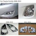 Стайлинг автомобиля крышка ABS хромированная лампа передний противотуманный светильник накладка рамка 2шт для Toyota Corolla Altis 2008 2009 2010 2011 2012 2013