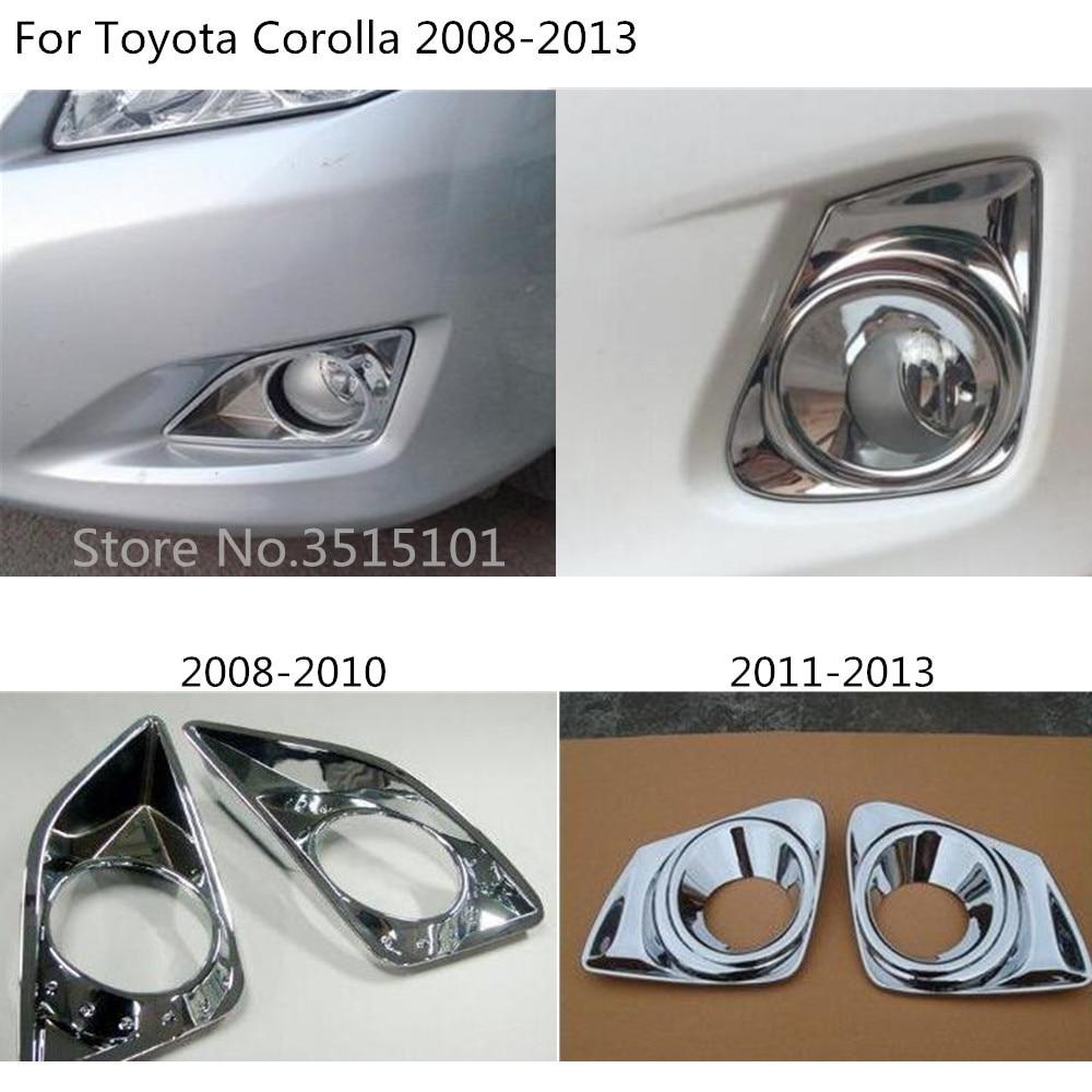Стайлинг автомобиля крышка ABS хромированная лампа передняя противотуманная фара накладка рамка 2 шт для Toyota Corolla Altis 2008 2009 2010 2011 2012 2013