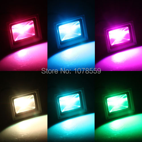 Wholesale Waterproof 10W Outdoor LED Flood Light Floodlight RGB LED Outdoor Lighting Lamp free shipping