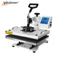 Jetvinner Multifunctional Heat Press Transfer Machine 9 in 1 Sublimation Printer for T shirt, Phone Case, Mug, Shoes, Plate