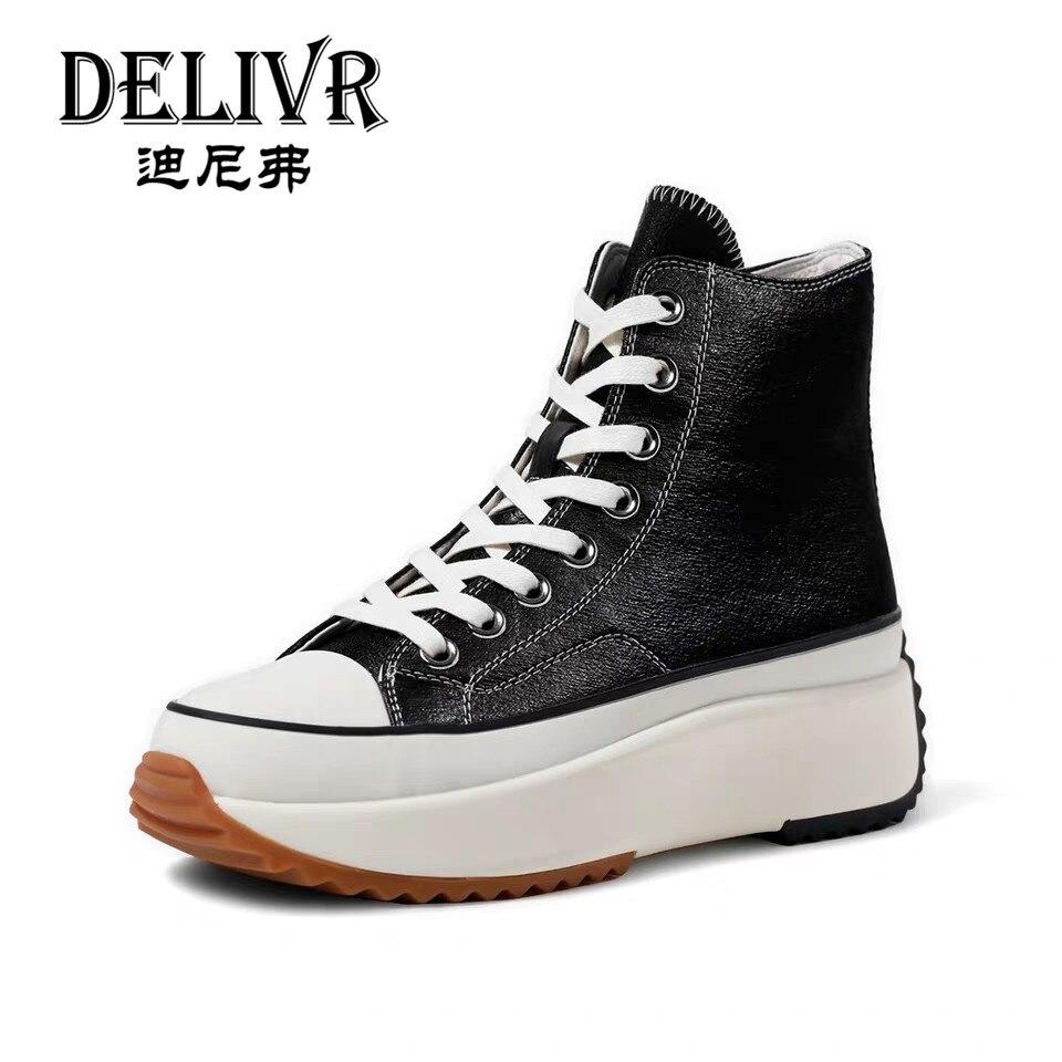 Delivr/Женская Вулканизированная обувь на платформе; парусиновая обувь с толстой подошвой; женские повседневные кроссовки; модные кроссовки;