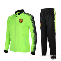 Barcelona Spring Autumn Men Soccer Suit 18 19 New N98 For Adults Children Casual High Quality Clothes Jacket + Pant Men's Sets