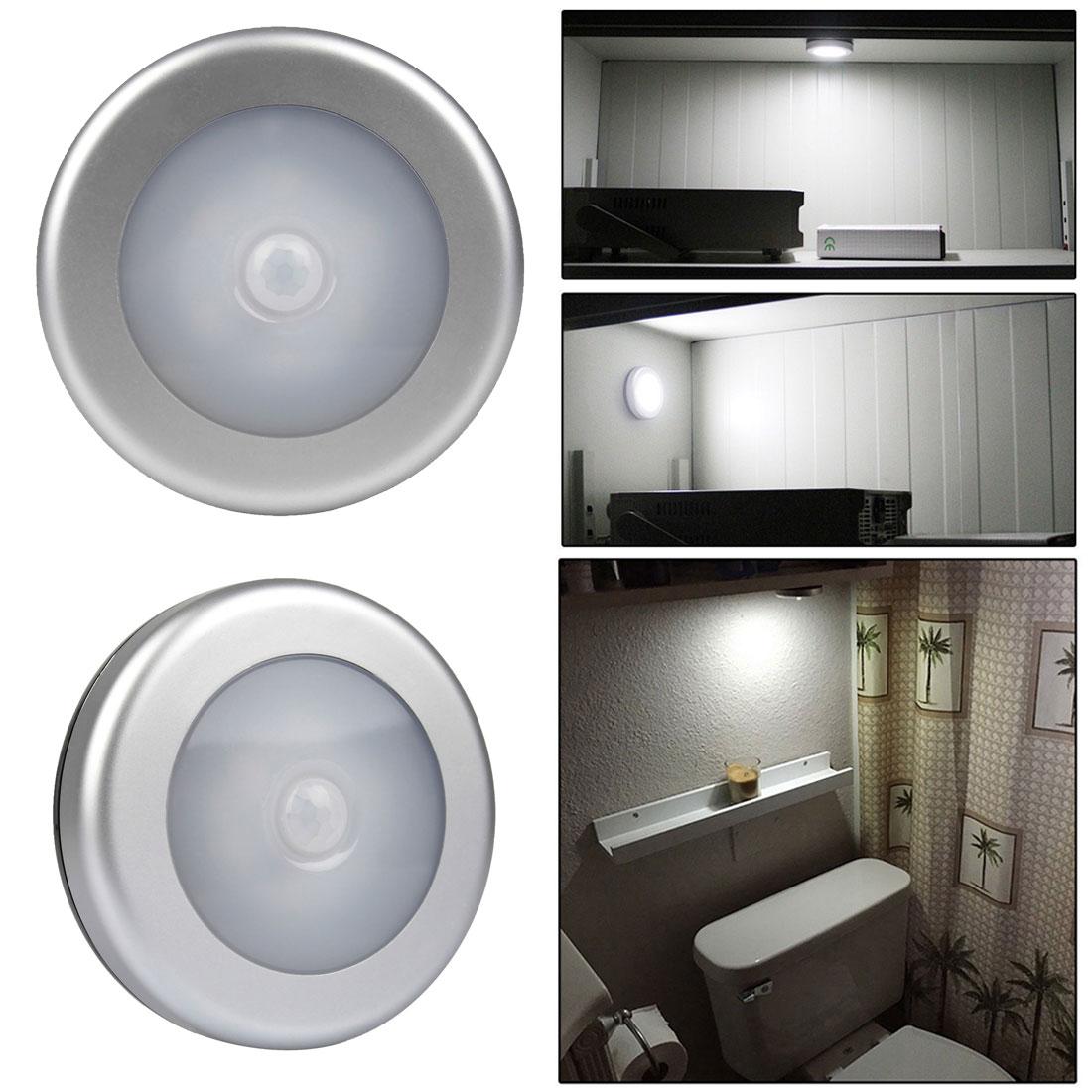 High Quality 6x white LED Wireless PIR Motion Sensor Light Cabinet Wardrobe Wall Lamp Battery Powered mini wireless pir motion sensor night light battery powered porch cabinet lamp