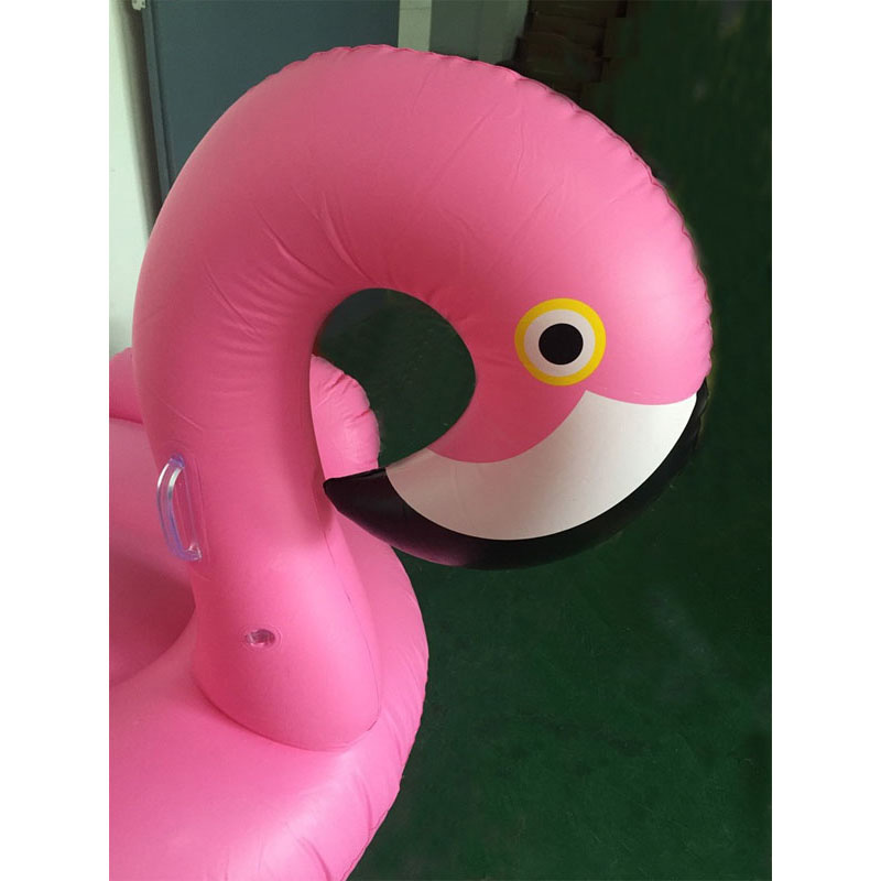 150CM 60 Inch Giant Inflatable Flamingo Pool Float Pink Ride On Swimming Ring Adults Children Water Holiday Party Toys Piscina in Swimming Rings from Sports Entertainment