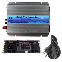 600W Grid Tie Inverter MPPT Function 22 60VDC input 110V 230VAC Micro Grid Tie Pure Sine Wave Inverter 22V 60V to 110V 220V