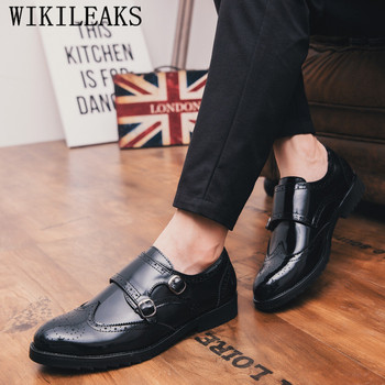 019c22863b1d58 Zapatos de vestir de hombre de negocios italianos zapatos oxford para  hombres zapatos formales hombres zapatos de doble correa de monje zapatos  hombre ...