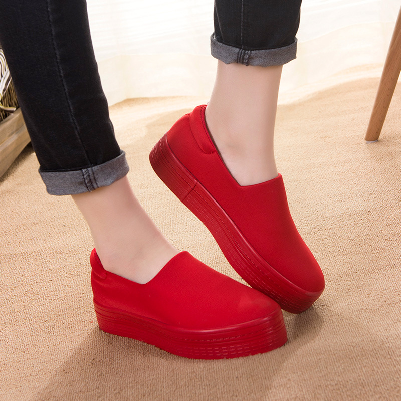 2016 New Muffin Heavy bottomed Shallow Mouth of Canvas Shoes font b Women b font Shoes