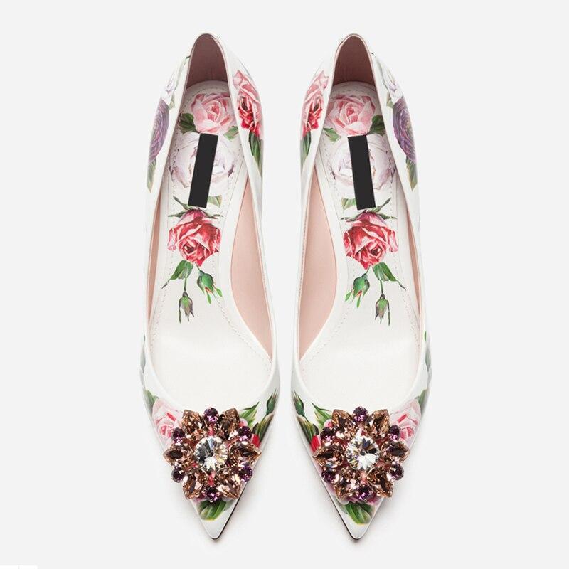 789225e51e Women Pumps Kitten Heels Glitter Crystal Embellished Woman Shoes Flower  Pattern Party Wedding Runway Woman Shoes
