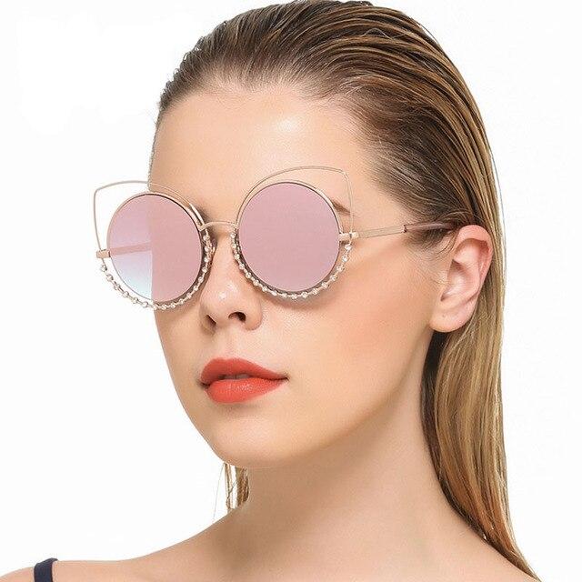 50c9e0bd7e Steampunk gafas de sol retras del ojo de gato del vintage carter famosa  marca diseñador mujer
