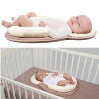 Dropship High quality pillow Newborn Baby Infant Sleep Positioner Prevent Flat Head Shape Anti Roll Pillow