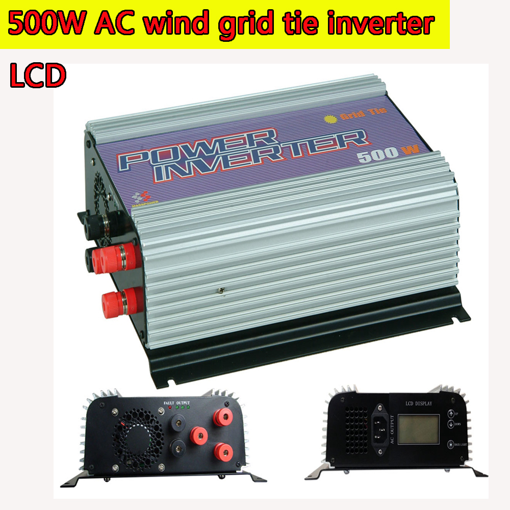 500W Grid Tie Power Inverter for 3 Phase AC Output Wind Turbine MPPT Pure Sine Wave Inverter with Built-in Dump Load Controller maylar 300w wind grid tie inverter for 3 phase 24 48v ac wind turbine input 22 60v output 90 260v 50hz 60hz no need controller