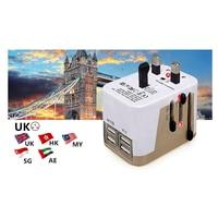 4 Usb-poort Alles in Een Universele Internationale Plug Adapter Met Tas wereld Reizen Ac Charger Adapter met AU US UK EU Plug