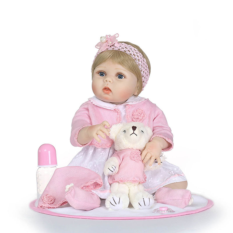 22 Lifelike Reborn Baby Dolls Soft Silicone Newborn Girls Dolls Realistic Vinyl Baby Reborn Toddler Dolls