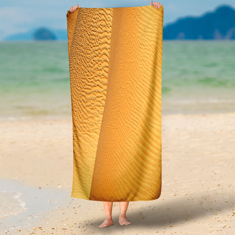 IKathoME Charming Desert Scenery 3D Beach Throws 75X150CM Rectangle Beach Throw Towel Yoga Mat Blanket Yellow  yoga mat yellow IKathoME Charming Desert Scenery 3D Beach Throws 75X150CM Rectangle Beach Throw Towel font b Yoga b