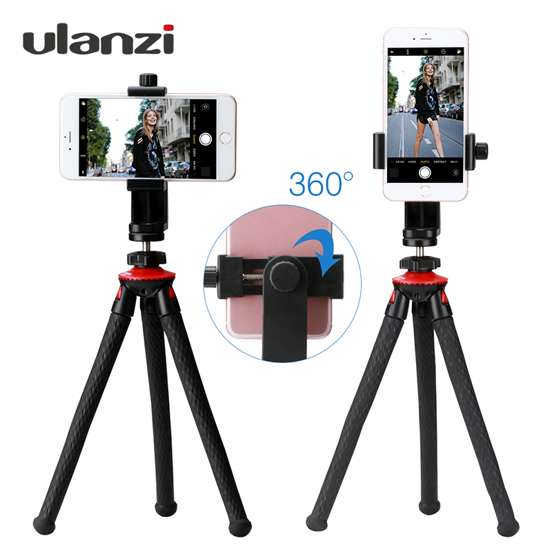 Ulanzi Phone Flexible Tripod with Bluetooth Shutter Remote Portrait Landscape Mount