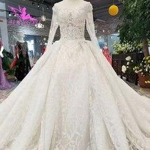 Aijingyuカスタムウェディングドレス2021 2020 luxurisギリシャbrideing白コルセット服装輸入ガウン高級レース