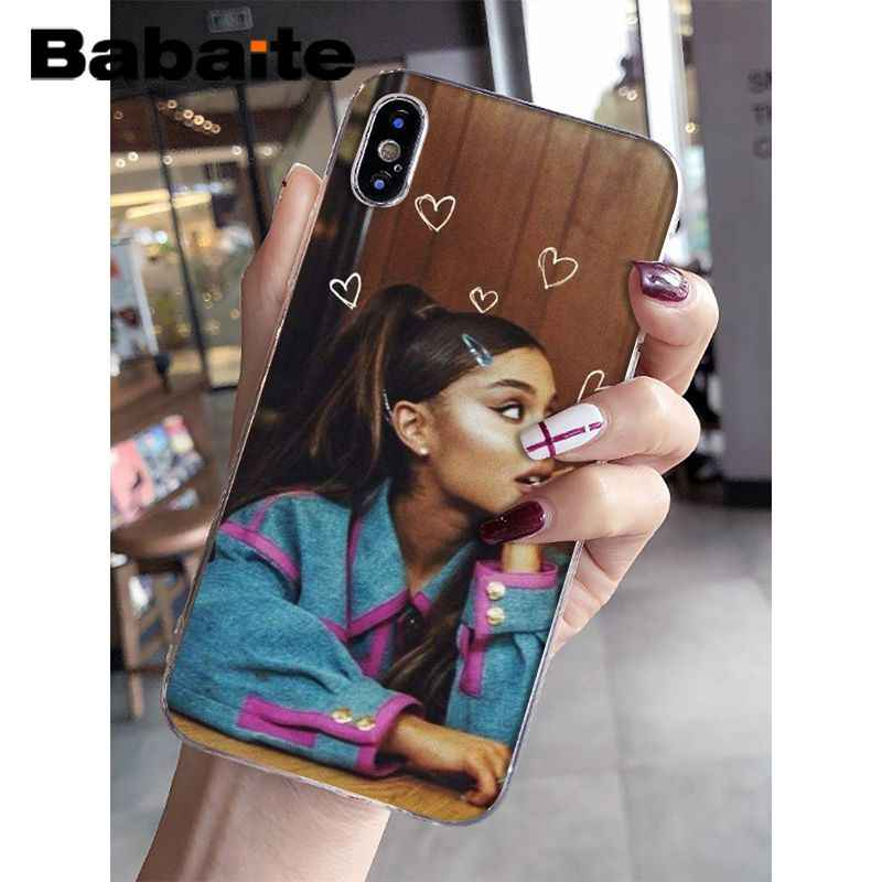 Babaite แมว Ar Ariana Grande Novelty Fundas โทรศัพท์สำหรับ iPhone 8 7 6 6S Plus 5 5S SE XR X XS MAX Coque Shell