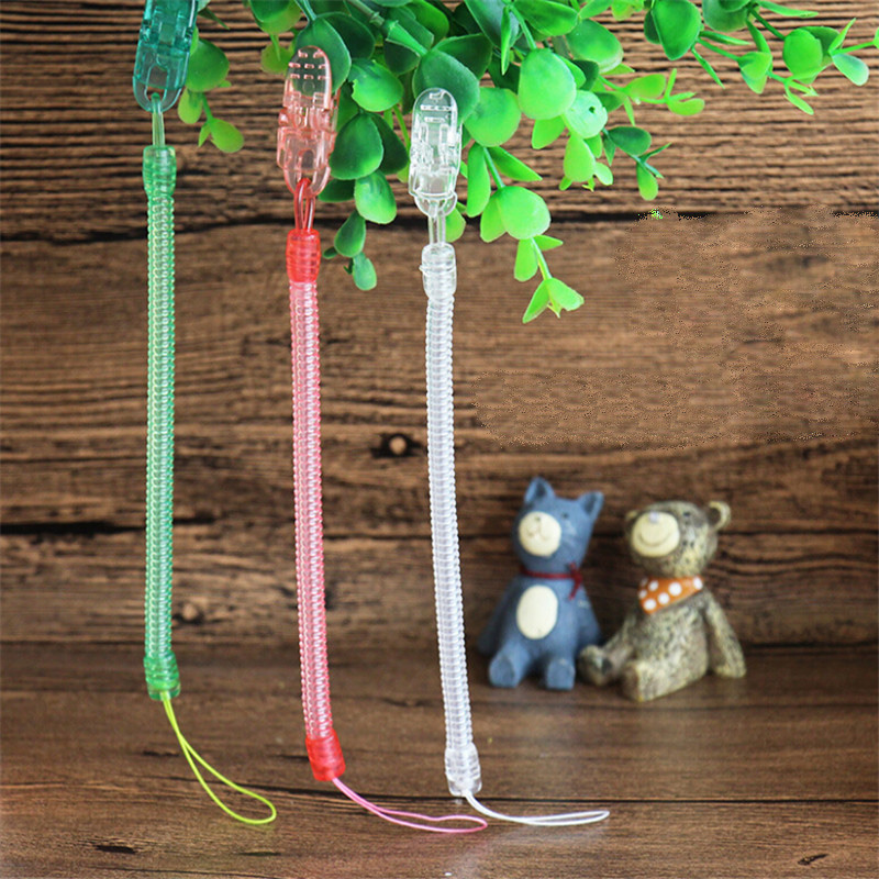 Infant Baby Pacifier Clips Soother Holder Anti Folder Pacifier Clip Chain Baby Dummy Nipple Holder Baby Hanging Strap 3 Colors