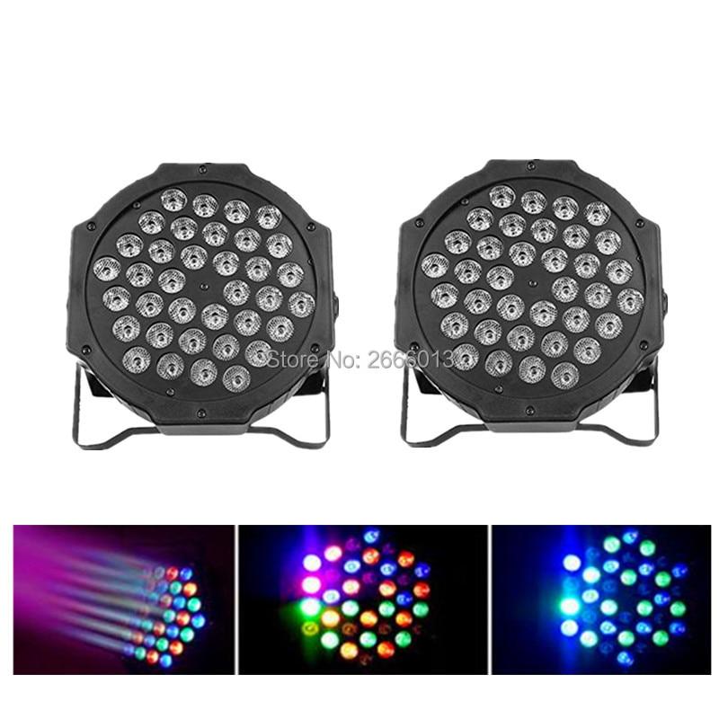2pcs/lot 36x3W RGB Flat PAR light DMX512 LED Stage Light Effect Disco DJ Bar Effect UP Lighting Show DMX Strobe for Party KTV