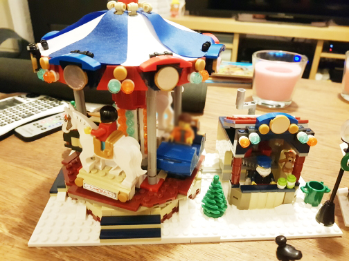 building bricks 36010 Christmas StreetView 1412pcs Merry-go-round Building Blocks Toys for Children 10235