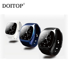 DOITOP M26 BlueTooth BT Smart Watch For Andriod Fashion Wearable Devices Intelligent Reminder Passometer Remote Self-timer Watch